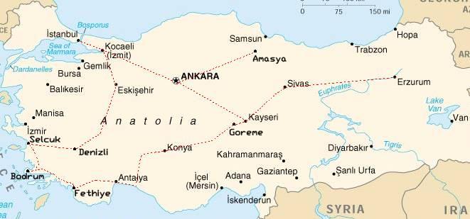 turska mapa Turska • Mapa puta i uvod turska mapa